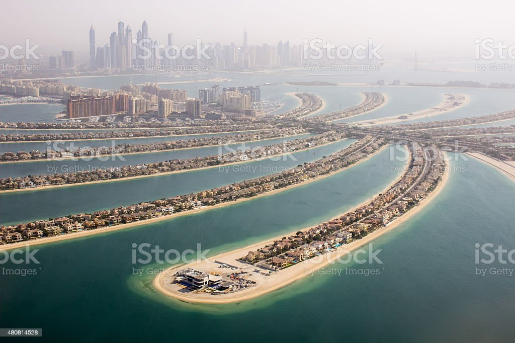 The Palm Jumeirah view, stock photo