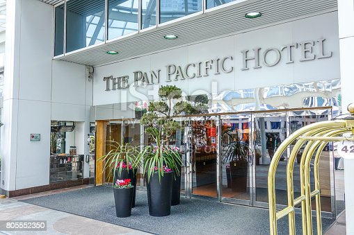 istock The Pan Pacific Hotel in Vancouver - VANCOUVER / CANADA - APRIL 12, 2017 805552350
