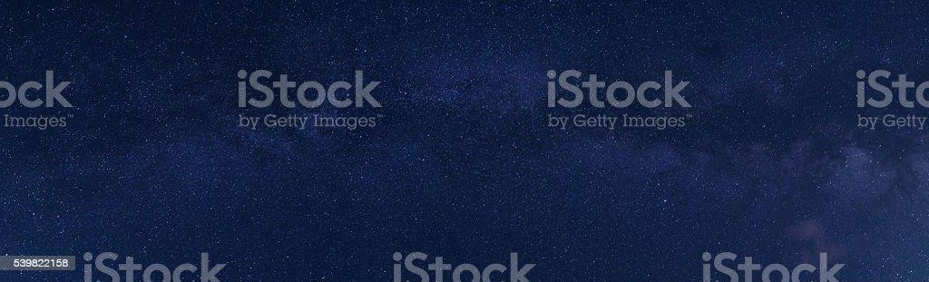 The Panorama Milky Way stock photo