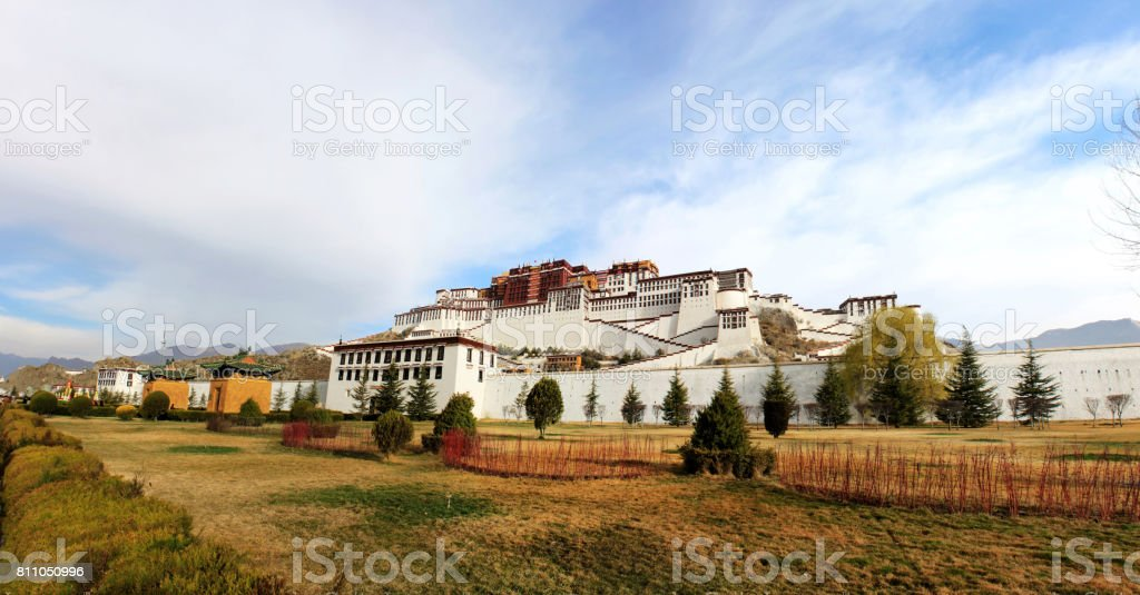the panoramic of the Potala Palace stock photo