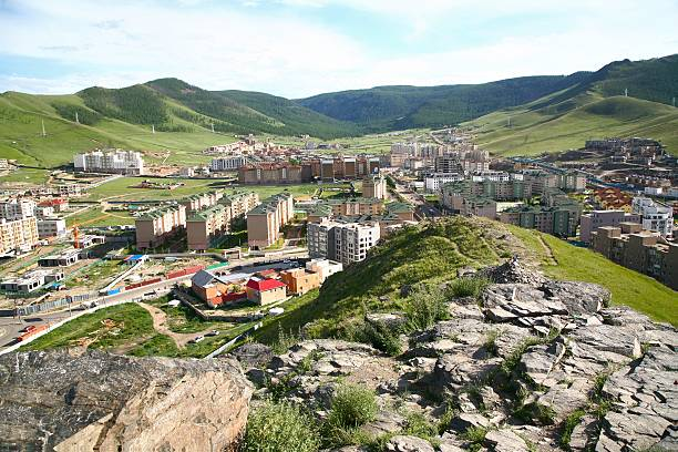 The panoramic view of the entire city of Ulaanbaatar, mongolia The panoramic view of the entire city of Ulaanbaatar, mongolia independent mongolia stock pictures, royalty-free photos & images