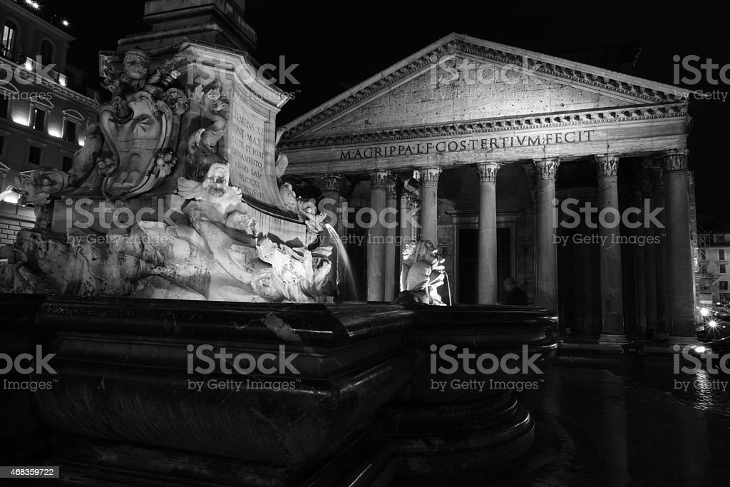 The Pantheon at Night royalty-free stock photo