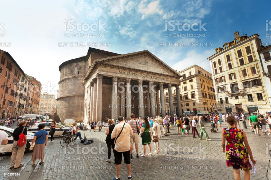 The Pantheon in Rome, Exterior View stock photo