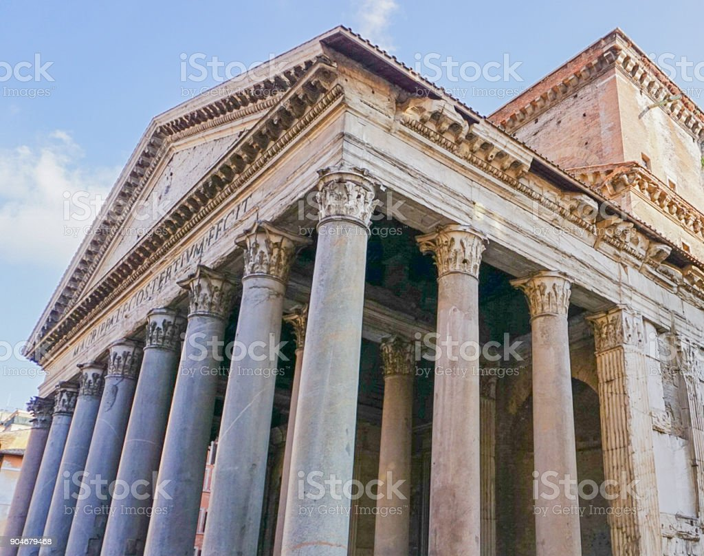 the Pantheon in Rome, Italy stock photo