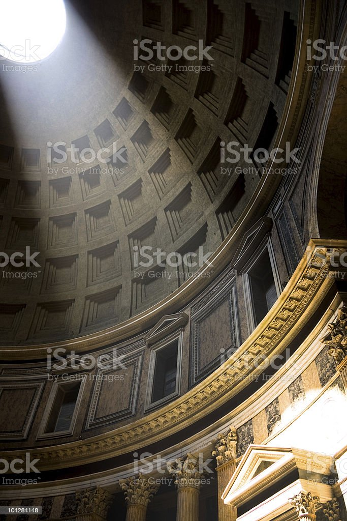 The Pantheon interior, Rome, Italy stock photo