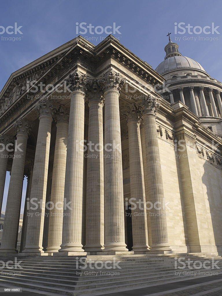 The pantheon royalty-free stock photo