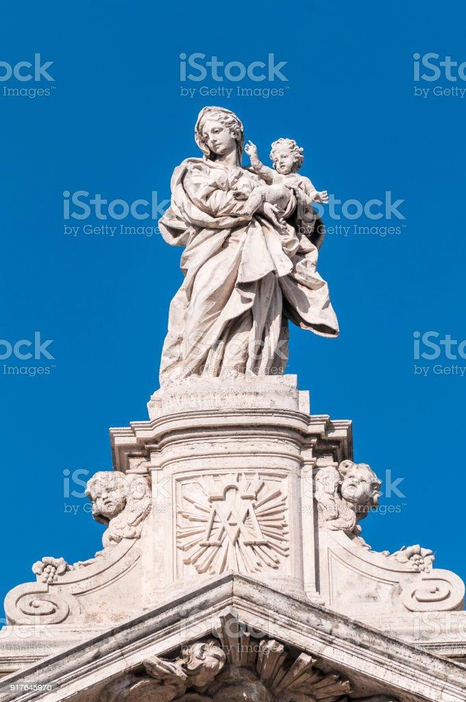 The Papal Basilica of Saint Mary Major in Rome, Italy. stock photo