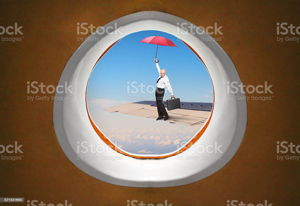 The Parachute. stock photo