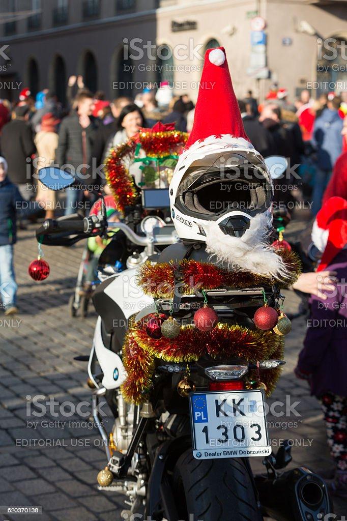 Parady Santa punkt w motocyklach zbiór zdjęć royalty-free