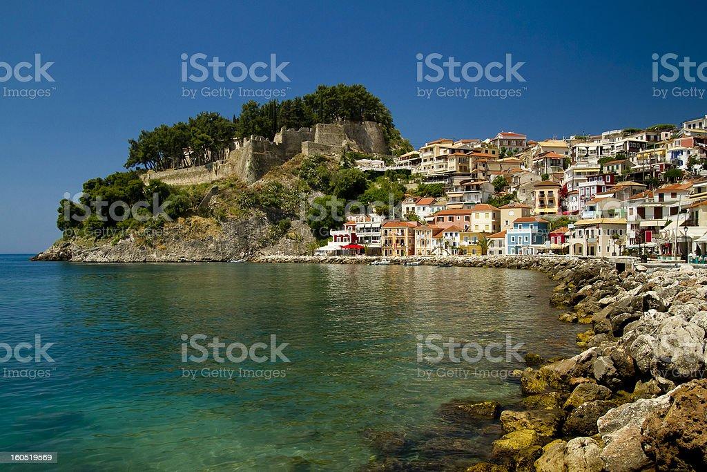 The Parga harbour area, Greece stock photo