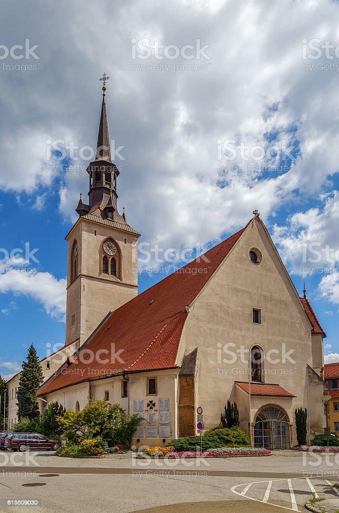 The Parish Church, Bruck an der Mur, Austria stock photo