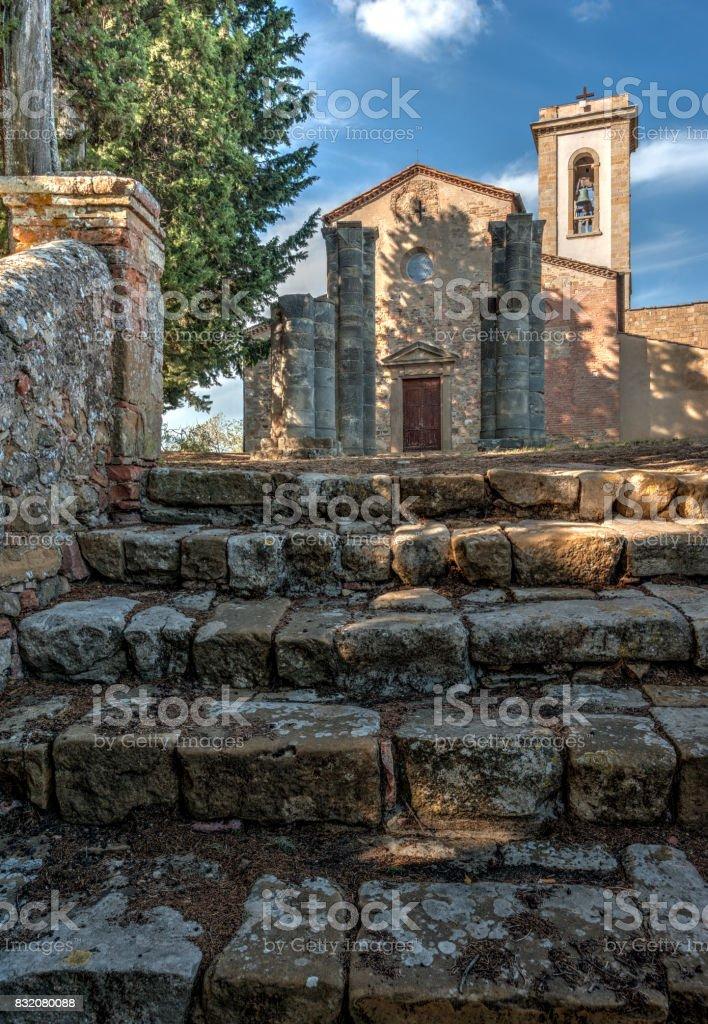 The parish Church of Sant'Appiano stock photo