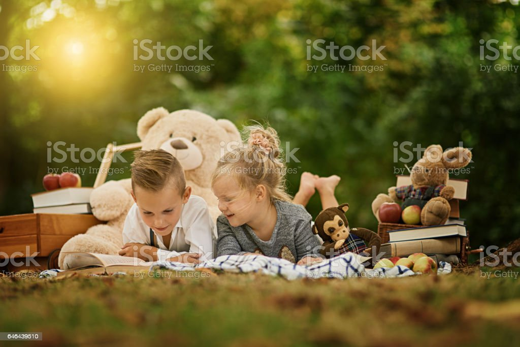 The park is a wonderful place for them to play stock photo