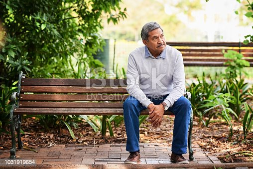 Shot of a mature man looking thoughtful outdoors