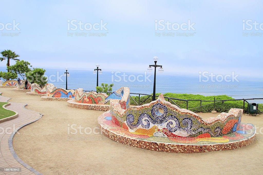 El Parque del Amor, in Miraflores, Lima, Peru royalty-free stock photo