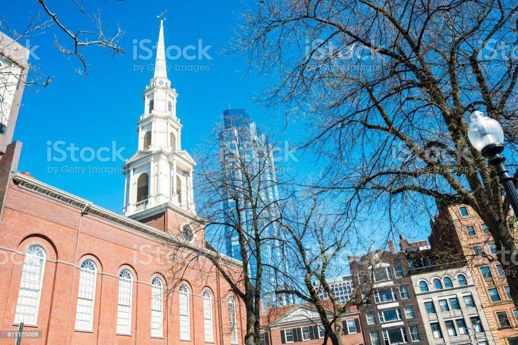 The Park Street Church stock photo