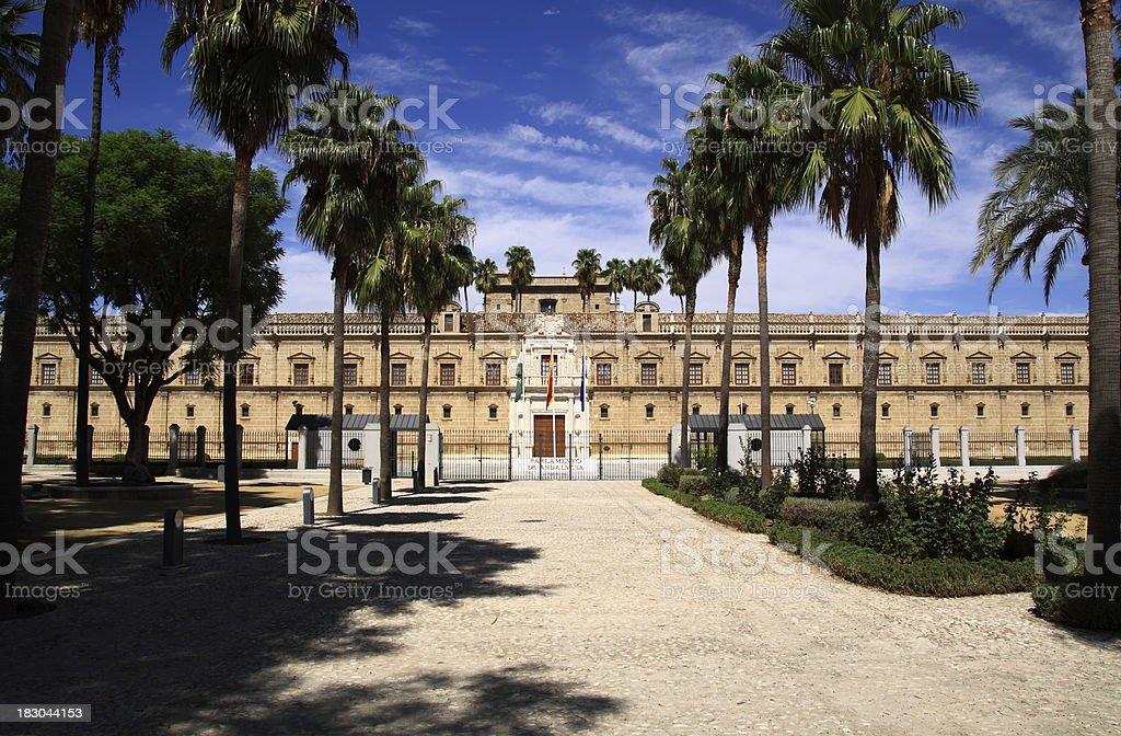 Le Parlement d'Andalousie photo libre de droits