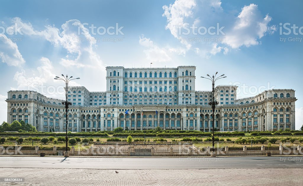 the parliament of bucharest stock photo