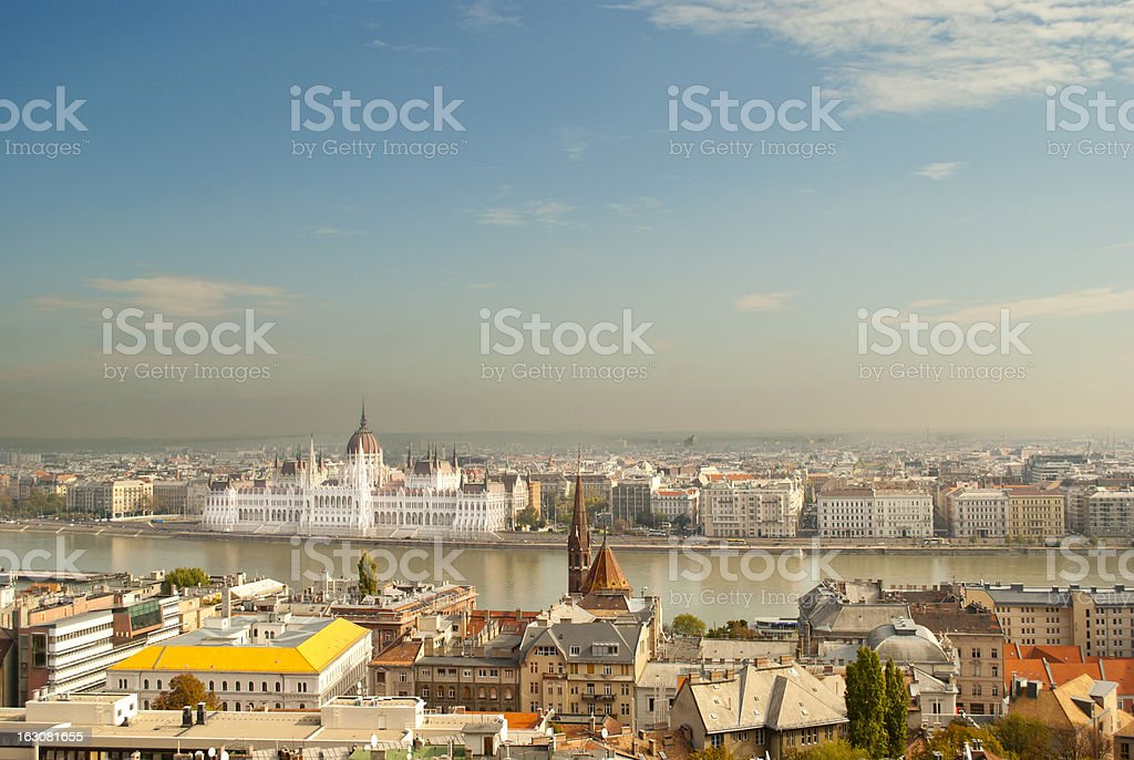 The Parliament of Budapest (Hungary) royalty-free stock photo