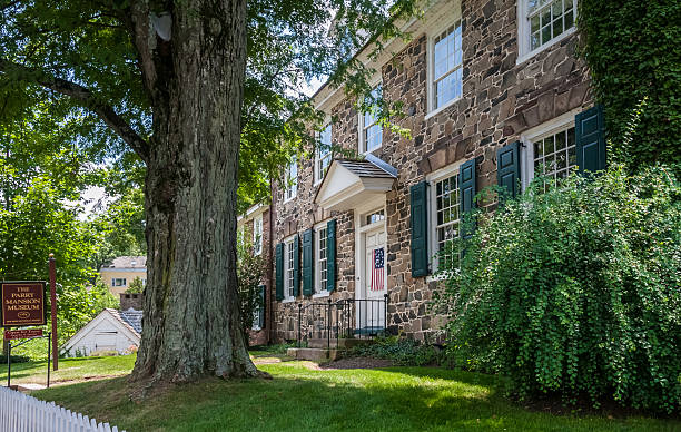 The Parry Mansion Museum, New Hope, Pennsylvania stock photo