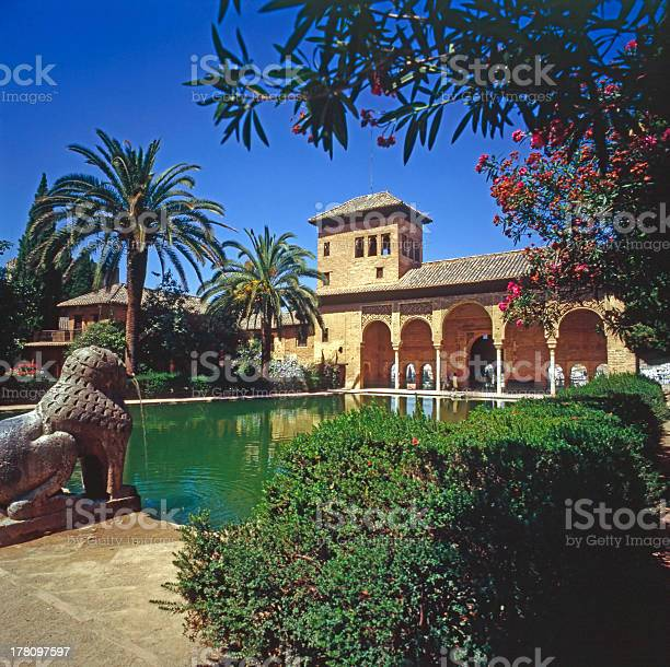 The Partal Palace Alhambra Spain Stock Photo - Download Image Now