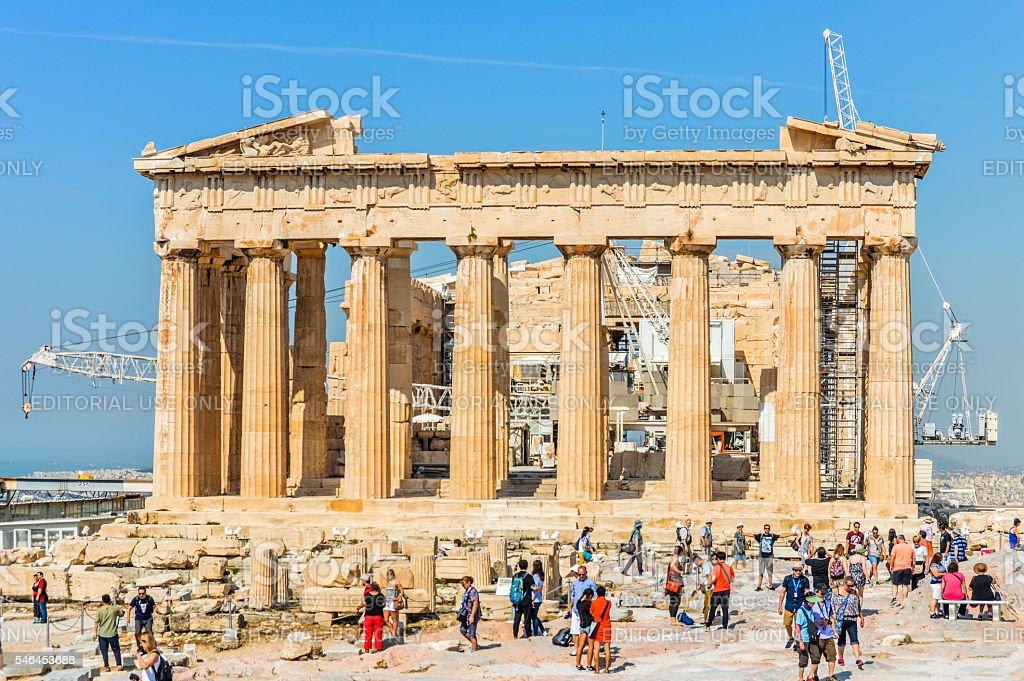 The Parthenon at the Acropolis - Athens, Greece stock photo