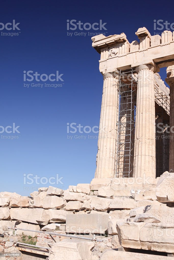 The Parthenon in Athens, Greece royalty-free stock photo
