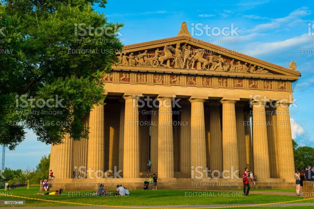 The Parthenon in Nashville stock photo