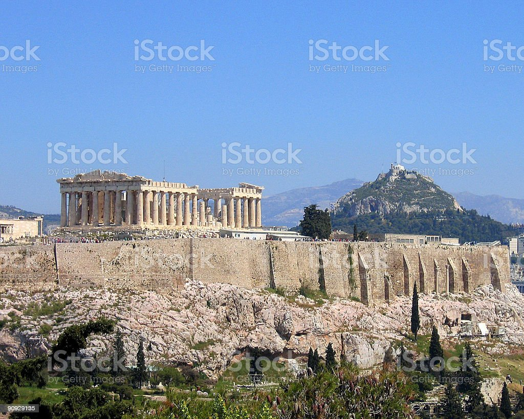 The Parthenon of Athens royalty-free stock photo