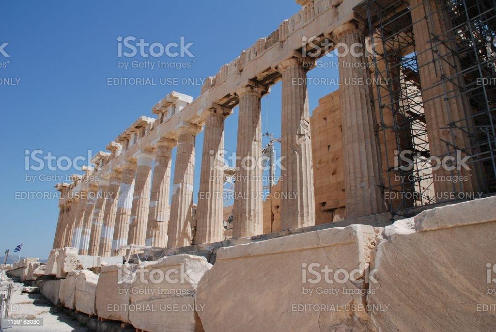The Parthenon temple, Athens stock photo