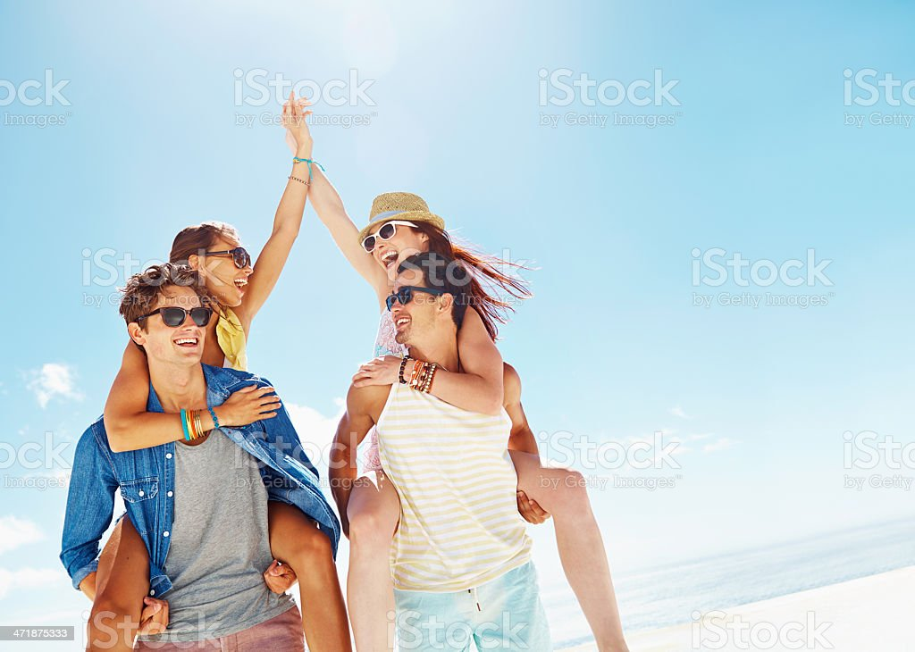The party is on! stock photo