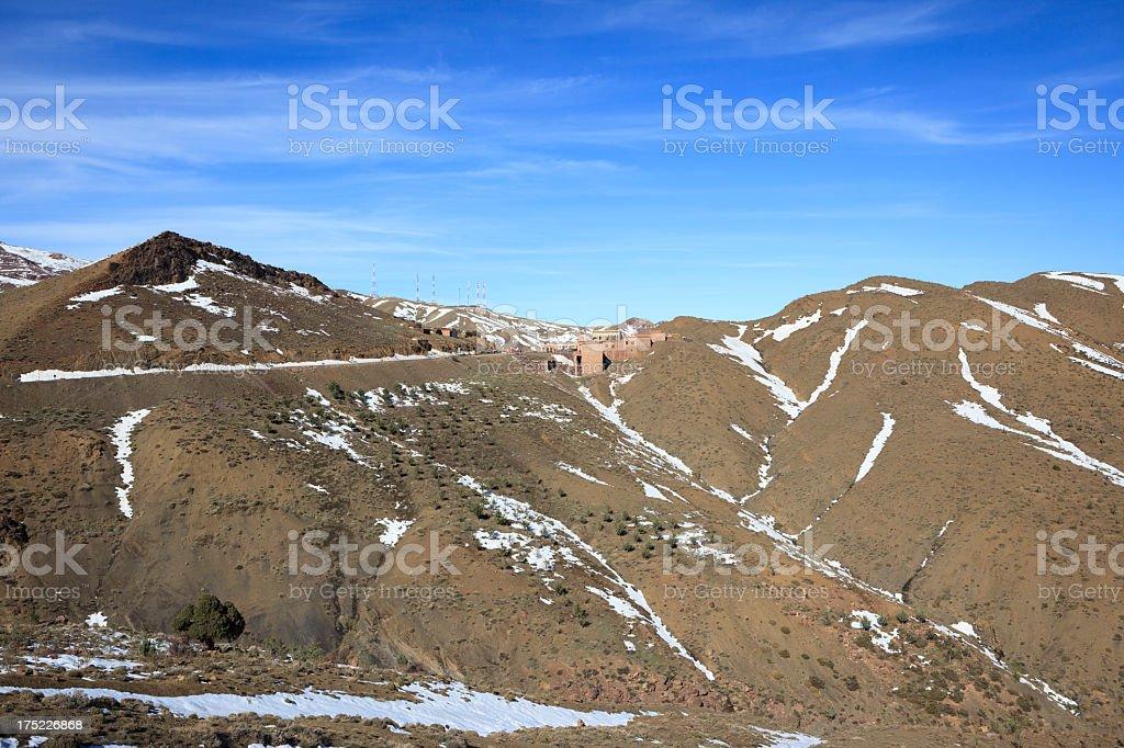The pass Tizi-n-Tichka in Morocco royalty-free stock photo