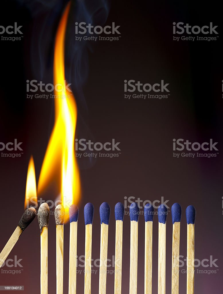The Passion of One Ignites And Grows in Others royalty-free stock photo
