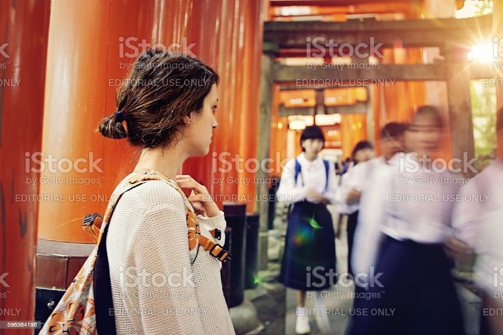 The past and the future of Japan stock photo