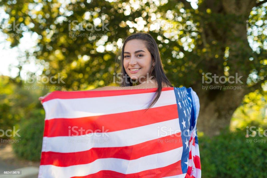The Patriot royalty-free stock photo