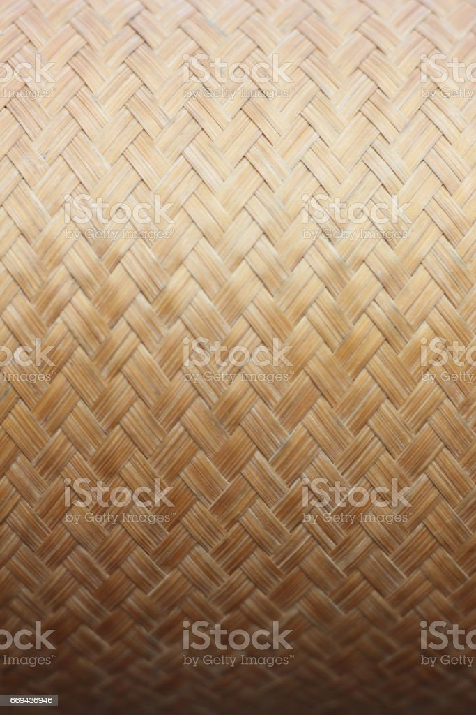 The pattern of bamboo containers for storing cooked rice. stock photo