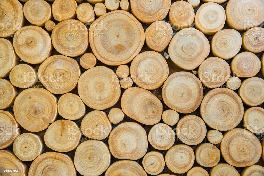 El patrón de fondo de tocón de árbol. - foto de stock