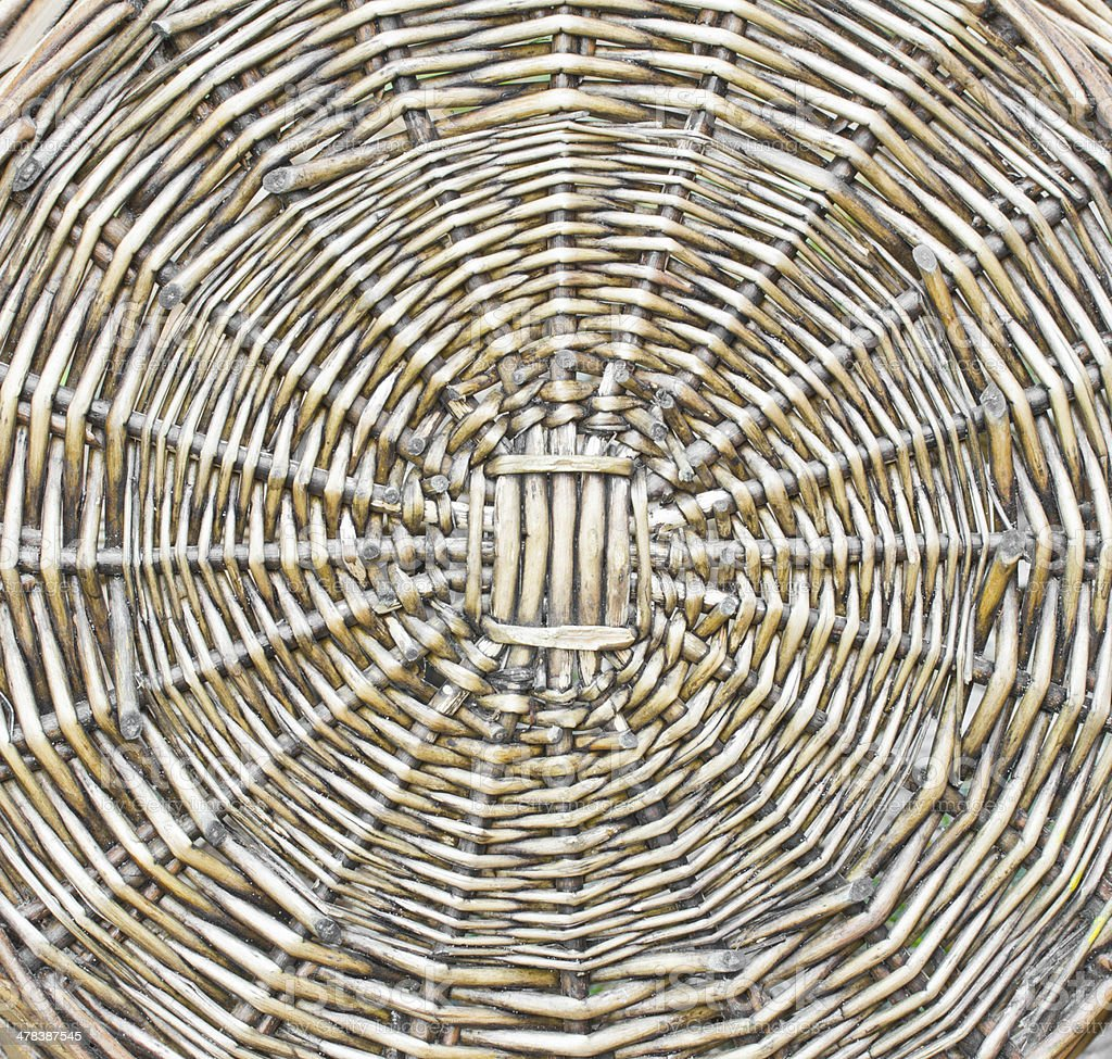 The pattern of woven wicker. royalty-free stock photo