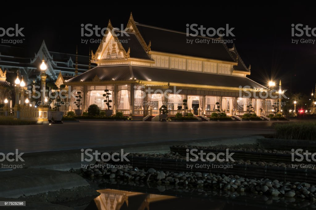 The pavilion in The Royal Cremation Ceremony for late King Bhumibol Adulyadej stock photo