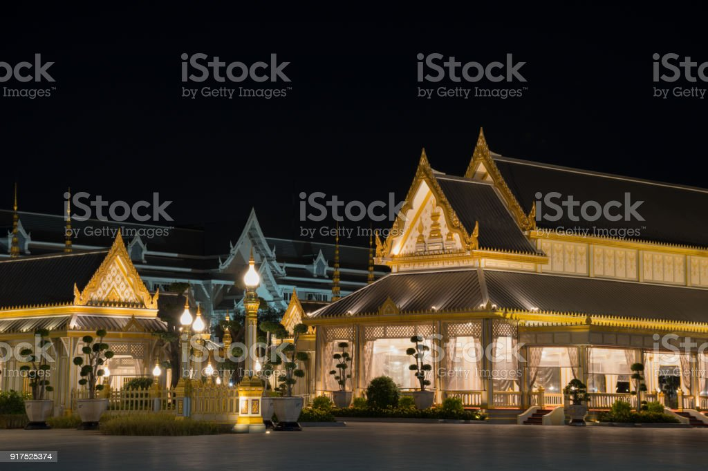 The Pavilions in The RoyalCremation Ceremony for late King Bhumibol Adulyadej stock photo