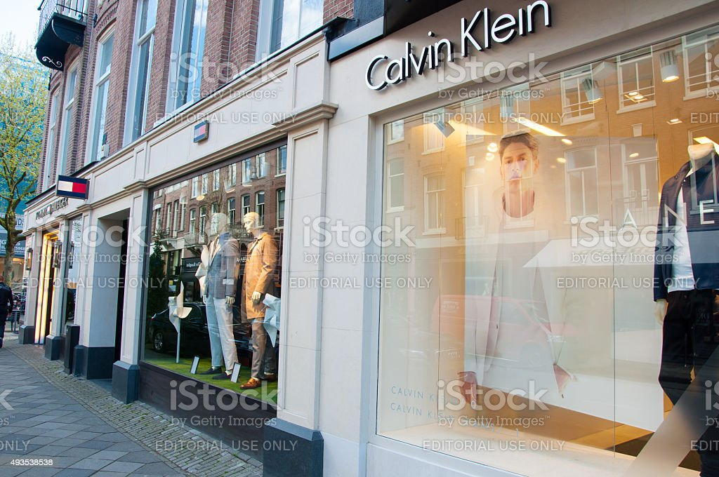 The P.C.Hooftstraat fashion street with luxurious brands in Amsterdam. stock photo