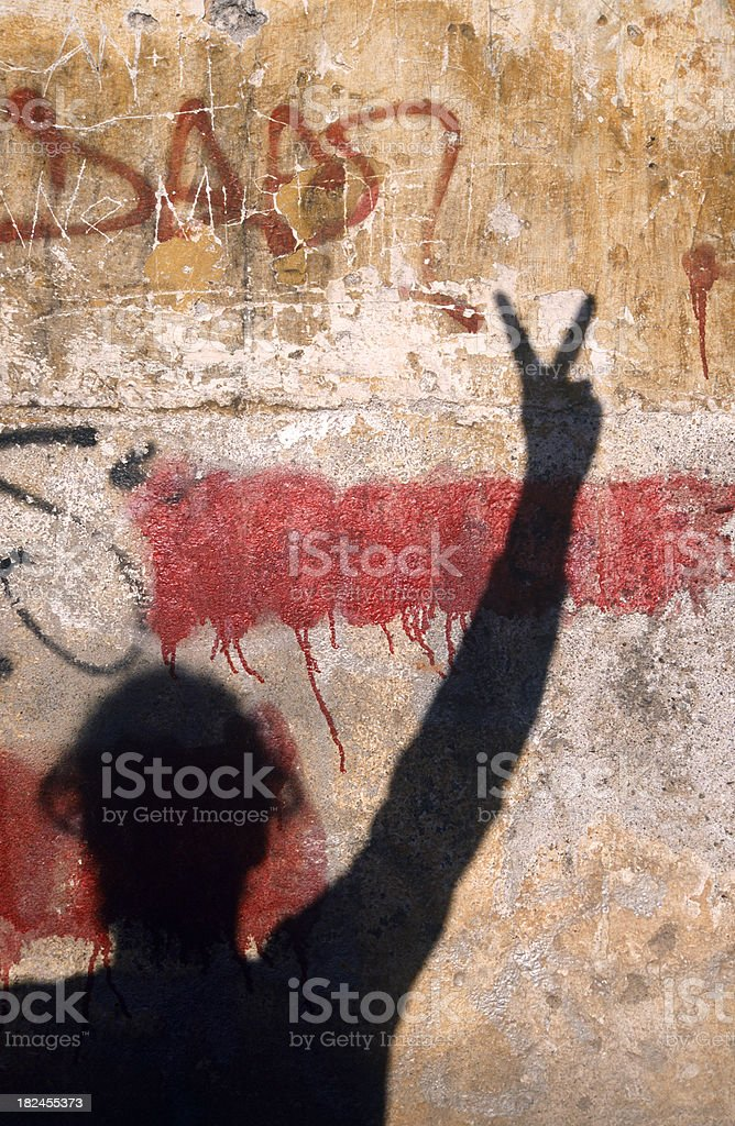 The peace sign royalty-free stock photo