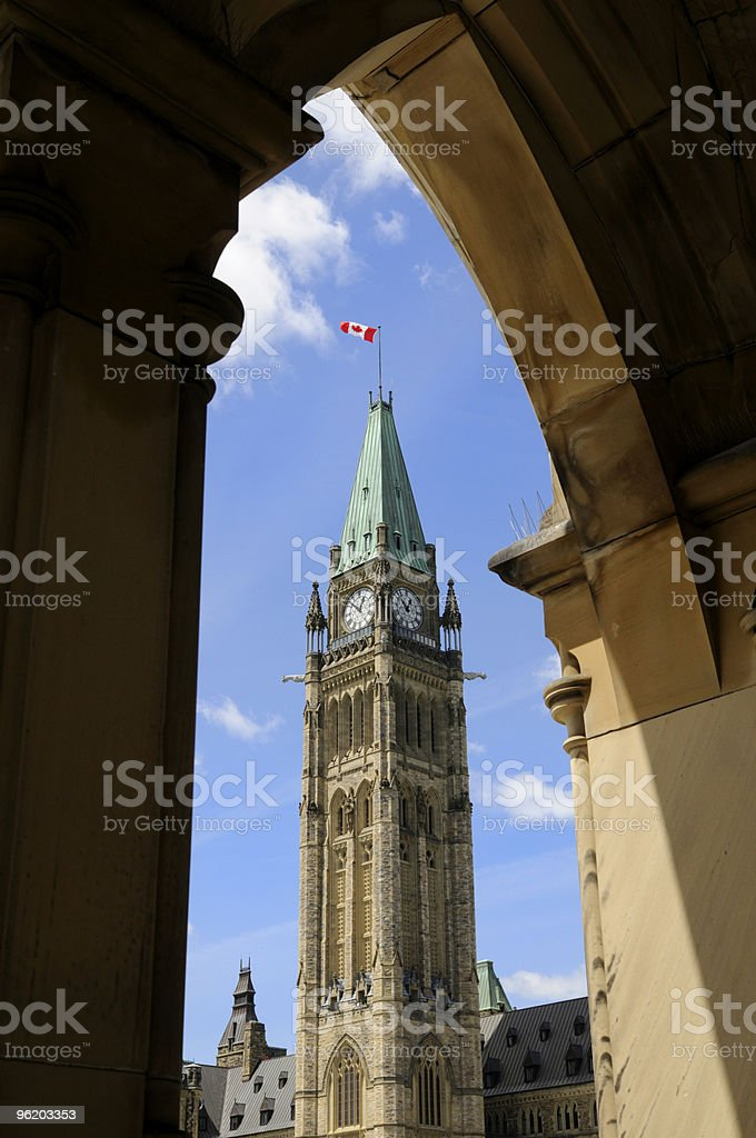 The Peace Tower royalty-free stock photo