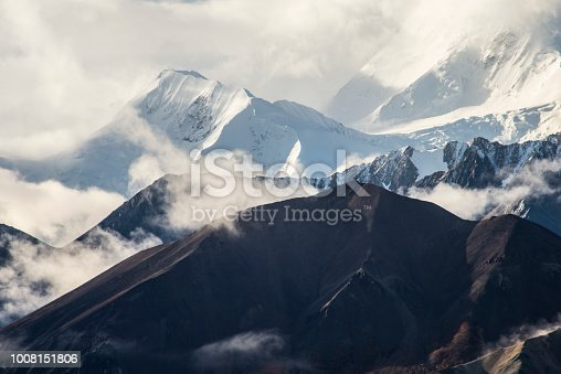 istock The peak of Mt. McKinley is covered with fog, snow, and ice. 1008151806