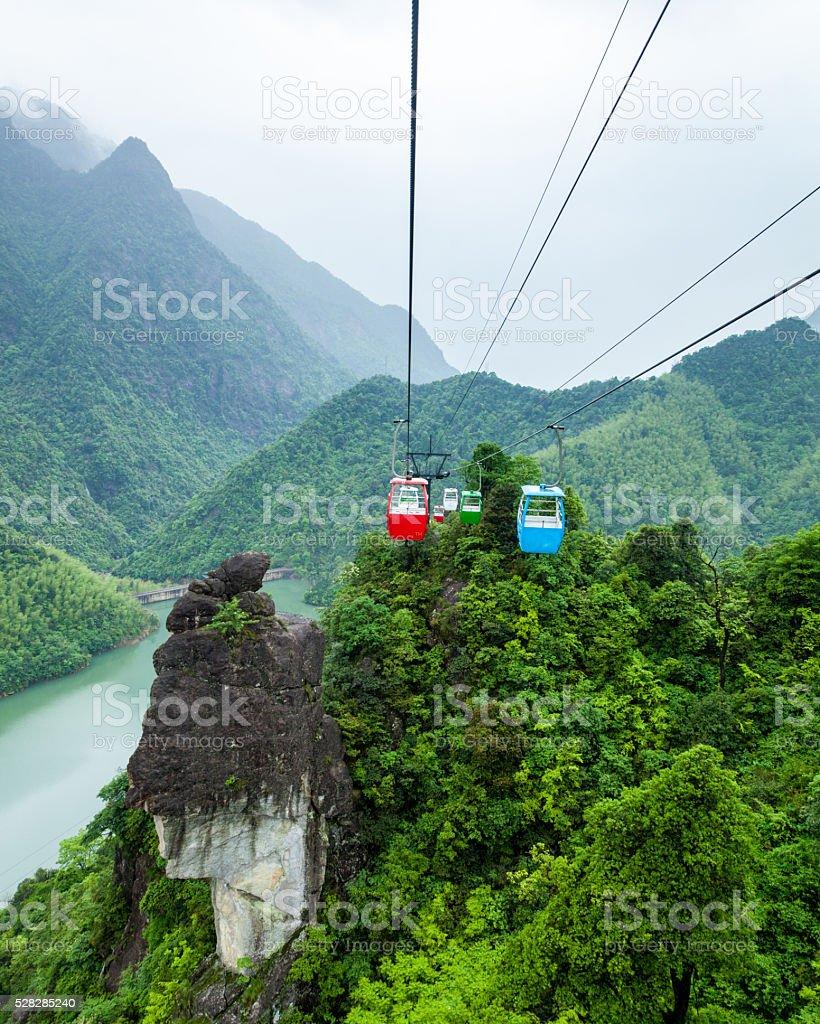 El pico del tranvía visualización - foto de stock