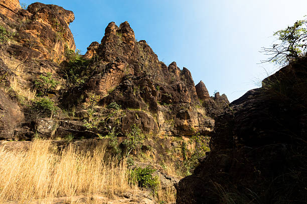 The peaks of Sindou stock photo