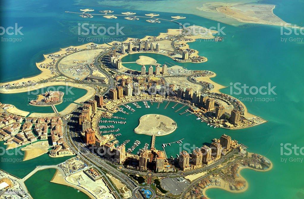 The Pearl - Doha - Qatar stock photo