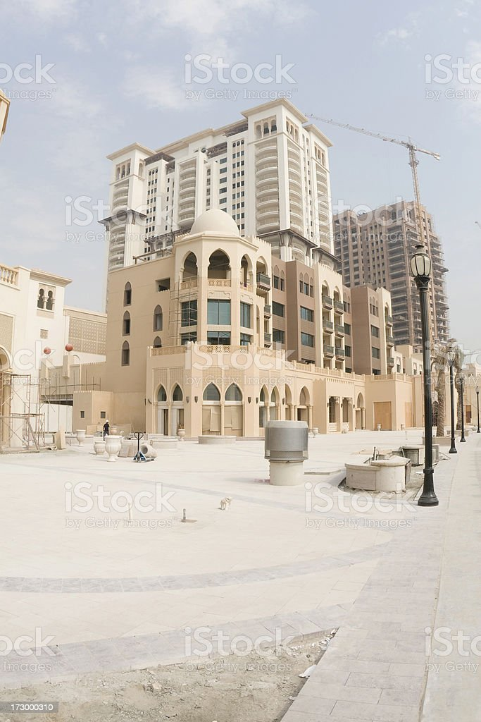 The Pearl in Doha royalty-free stock photo