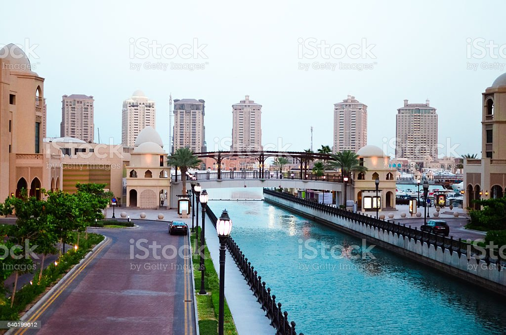 The Pearl Island view stock photo