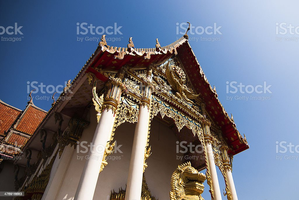 The pediment of temple, Thailand royalty-free stock photo